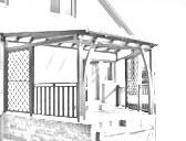 Dřevěné zastřešení terasy