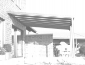 Hliníkové zastřešení terasy