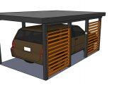 moderní garáž 10 | Moderní dřevěná garážová stání