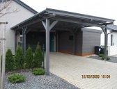 | Moderní dřevěná garážová stání