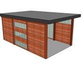 moderní garáž 4 | Moderní dřevěná garážová stání