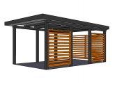 moderní garáž 5 | Moderní dřevěná garážová stání