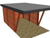 moderní garáž 6 | Moderní dřevěná garážová stání