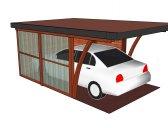 moderní garáž 7 | Moderní dřevěná garážová stání