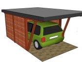 moderní garáž 9 | Moderní dřevěná garážová stání