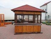 Altán s fóliemi | Dřevěný zahradní altán Sázava 2,5x2,5m včetně folií