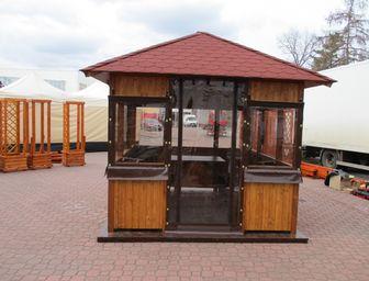 Dřevěný zahradní altán Sázava 2,5x2,5m