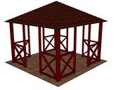 obr. 1 - základní provedení | Dřevěný altán Vetas 3x3m