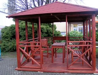 Dřevěný altán Vetas - altán, zahradní altán, dřevěný altán, dřevěné altány, dřevěné zahradní altány, zahradní altán dřevěný, dřevěný zahradní altán, dřevěné zahradní altány a krytá posezení, altán stavebnice
