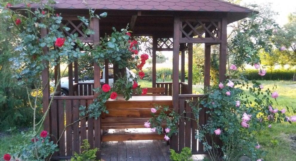 Dřevěný zahradní altán Hobby 2,5x2,5m, 4 vchody