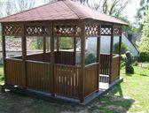 obr. 3 - varianta 1 | Zahradní altán Hobby 3x3m, 4 vchody