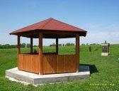 obr. 5 - základní provedení | Dřevěný zahradní altán šestiboký
