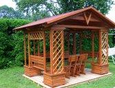 obr. 4 - základní provedení+ stůl a židle | Zahradní altán Besídka
