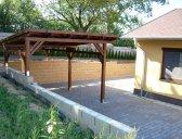 garážový přístřešek varianta 2 | Garážový přístřešek na auto – šikmá střecha