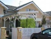garážový přístřešek varianta 3 | Garážový přístřešek na auto – šikmá střecha
