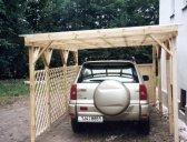 garážový přístřešek varianta 4 | Garážový přístřešek na auto – šikmá střecha