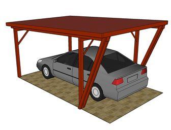 Garážový přístřešek Valencie - garážové stání, přístřešek na auto