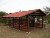 Další možnost - prodloužení střechy | Garážový přístřešek se sedlovou střechou 3x5,2 m