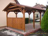 | Garážový přístřešek se sedlovou střechou 3x5,2 m