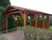 Garážový přístřešek základní provedení   Garážový přístřešek se sedlovou střechou 3x4,2 m