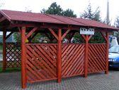 Varianta 1 | Garážový přístřešek se sedlovou střechou 3x4,2 m