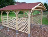 Varianta 2 | Garážový přístřešek se sedlovou střechou 3x4,2 m