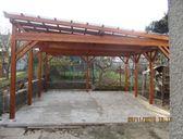 Navíc s domkem na nářadí | Dvojgaráž pro auto se šikmou střechou