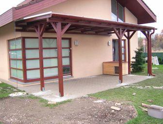 Zastřešení terasy typ 1A - zastínění terasy, zastřešení terasy, pergoly ke zdi, zastínění pergoly, zastřešení pergoly