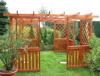 Pergoly Hobby 3x3 m - pergoly, dřevěné pergoly, zahradní pergoly, stavebnice pergoly