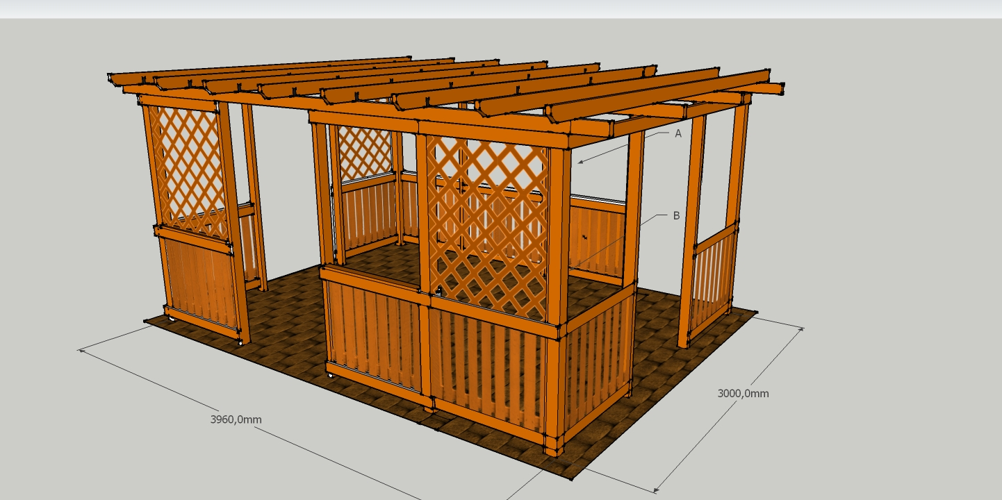 pergoly hobby 3x4 m vetas. Black Bedroom Furniture Sets. Home Design Ideas