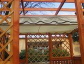 obr. 2 - baldachýn (sluneční clona) | Pergoly Hobby s baldachýnem 3x3 m