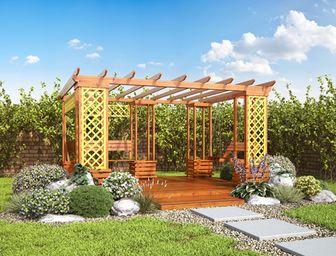 Pergoly Pohoda s houpačkou - pergoly, pergoly ze dřeva, zahradní pergoly, výroba pergol, stavebnice pergoly