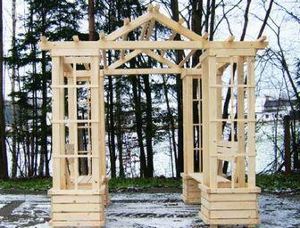 Pergoly Posezeníčko+zabudované lavice pro 4 osoby Kutná Hora
